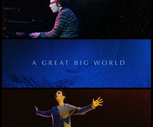oasis, a great big world, and video image