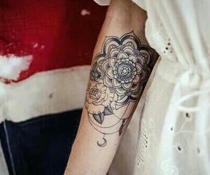 tattoo, flowers, and mandala image