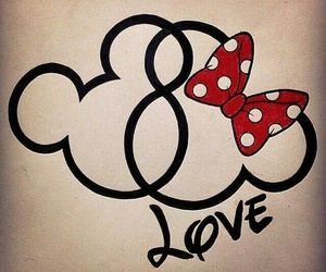 mickey and love image