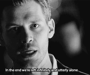 klaus, alone, and the vampire diaries image