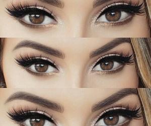 eyeliner, eyes, and brown image