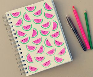 watermelon, creativity, and drawing image