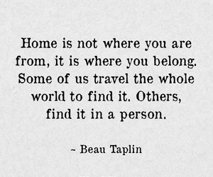 quote, beau taplin, and love image