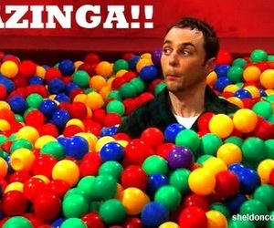 ball, sheldon, and bazinga image