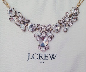 necklace, J.Crew, and diamond image