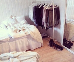 bedroom, clothes, and shoes image