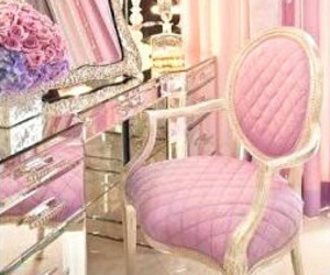 pink, room, and beauty image
