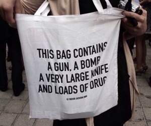 bag, drugs, and funny image