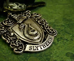 slytherin, harry potter, and green image