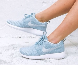 baby blue, nike, and nike shoes image