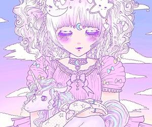 pastel, cute, and unicorn image