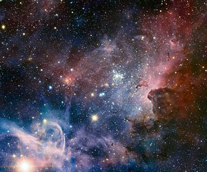 stars, space, and galaxy image