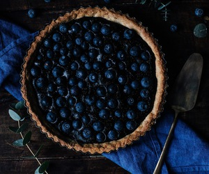blue, food, and blueberry image