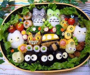 food, totoro, and bento image