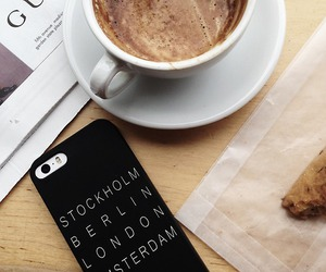 coffee, gucci, and iphone image