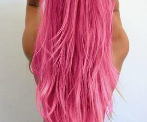 hair, pink, and girly image