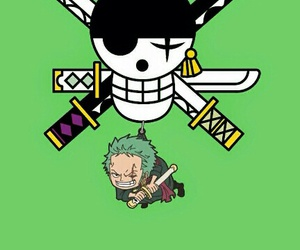 anime, one piece, and green+ image