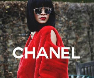 chanel, rihanna, and red image