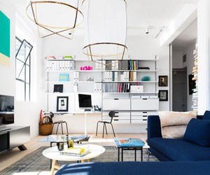 apartment, living room, and london image