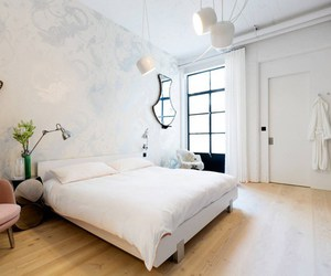 apartment, bedroom, and white image