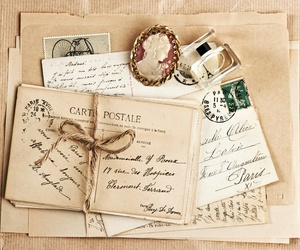 letters, vintage, and old image
