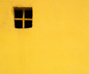 yellow, window, and wall image