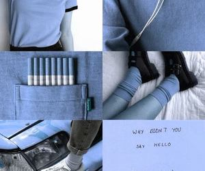 blue, aesthetic, and Collage image