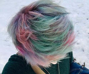 colorful hair, emo, and grunge image