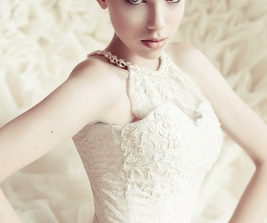 beautiful, gown, and bridal image