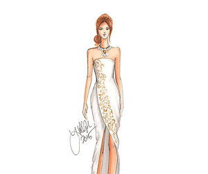 art, drawing, and dresses image