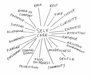 self care, quotes, and care image
