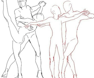 dance, reference, and drawing image