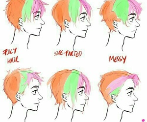 hair, tutorial, and drawing image