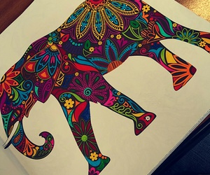 draw, drawing, and elephant image