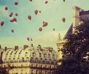 balloons, paris, and red image