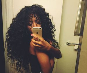 curls, hair, and curly image
