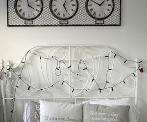 bed, clock, and diy image