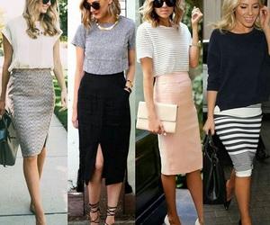 boss, fashion, and pencil skirt image