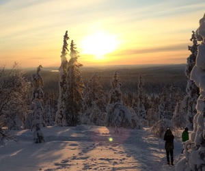 finland, snow, and lapland image