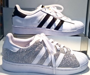 adidas, Blanc, and fancy image