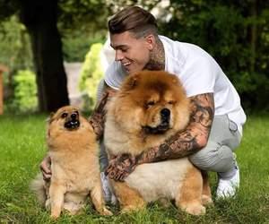 dog, boy, and tattoo image