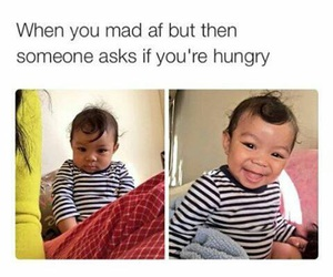 hungry, funny, and mad image