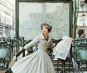 vintage, paris, and louvre image