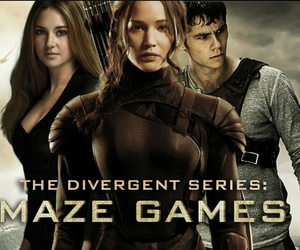 divergent, hunger games, and maze runner image