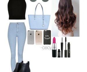 beauty, outfit, and girls image