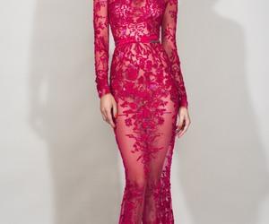 dress, Zuhair Murad, and pink image