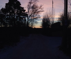 sky, sunset, and himmel image
