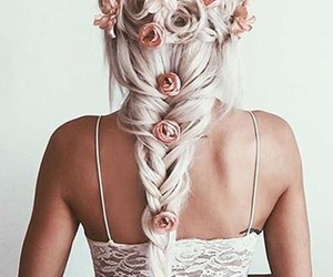 beauty, hair, and braid image
