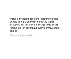 burden, quote, and reassurance image