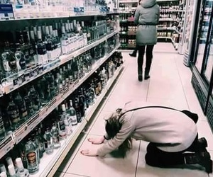 alcohol, vodka, and drunk image